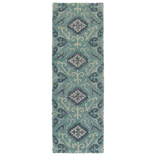 Dittmar Handmade Teal/Silver Indoor/Outdoor Area Rug