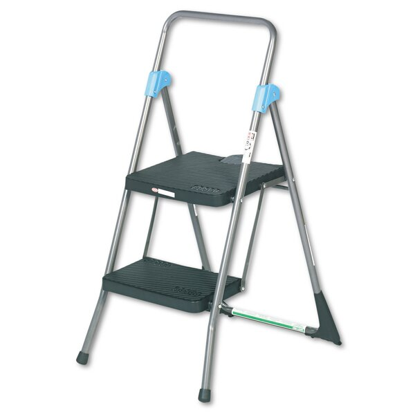 Capacity 300 lb Step Stool Folding Blue And Gray Resin Molded Type 1A