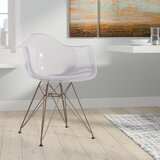 Abel Curved Arm Chair in Clear by Trule