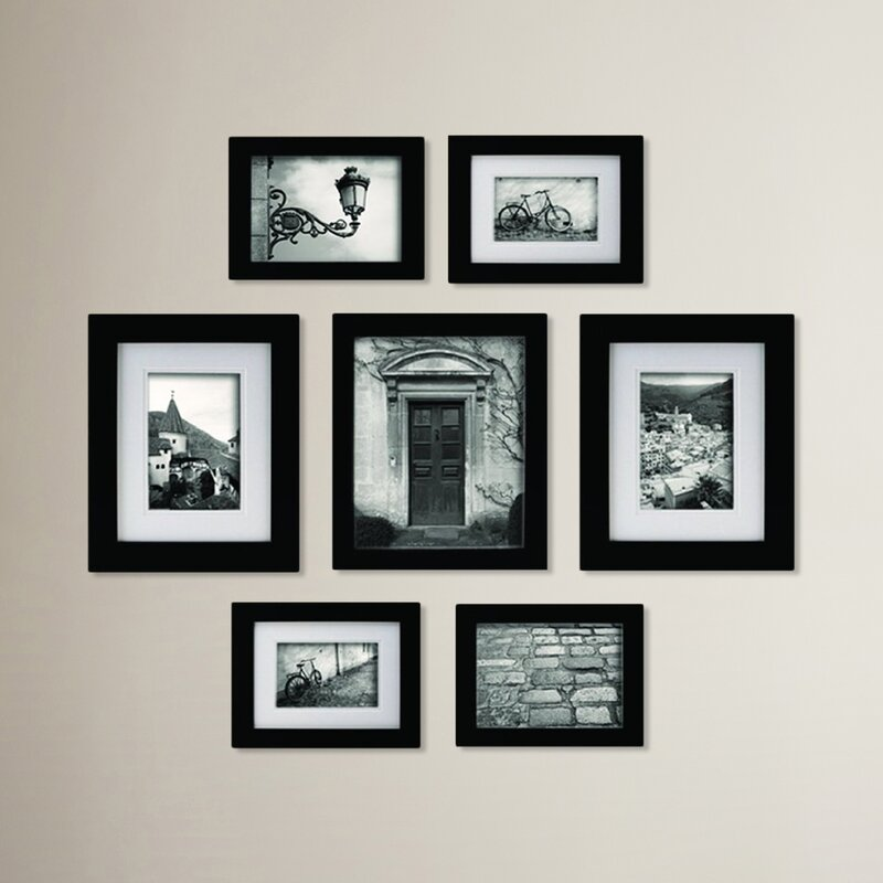 Morell Blackstone 7 Piece Gallery Snapshot Picture Frame Set
