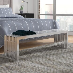 Wade Logan Gunnar Stainless Steel Bench (Set of 2)