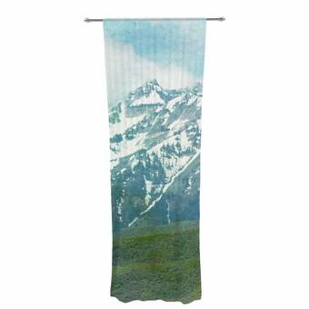 30 x 84 Sheer Curtains Kess InHouse Shirlei Patricia Muniz We are Waiting for Blue Abstract Decorative Set