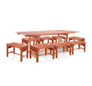 Vifah 9 Piece Dining Set