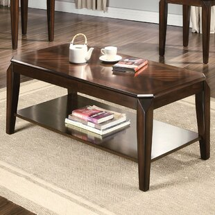 Compare Salamone Walnut 3 Piece Coffee Table Set By Ebern Designs