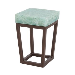 Folded Glass End Table