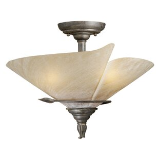 Fleur De Lis Living Brott 3-Light Semi Flush Mount