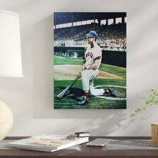 'Ted Williams Boston Red Sox' Oil Painting Print on Wrapped Canvas by East Urban Home