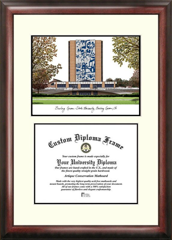 Campus Images Ncaa Bowling Green State Falcons Scholar Lithograph Diploma Frame Reviews Wayfair