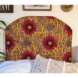 Horsham Wild Flower Beveled Twin/Twin XL Upholstered Panel Headboard