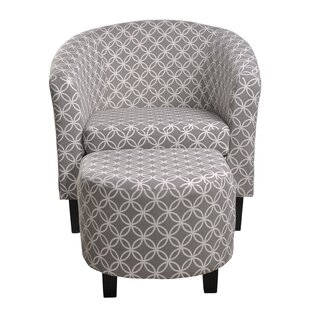 Nathaniel Home Paisley Barrel Chair and Ottoman