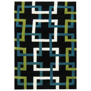 Jacob Hand-Woven Black Area Rug