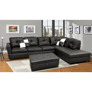 Skillman Moduler Sectional with Ottoman by Ebern Designs