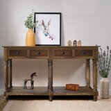 Burrel 57 Solid Wood Console Table by August Grove®