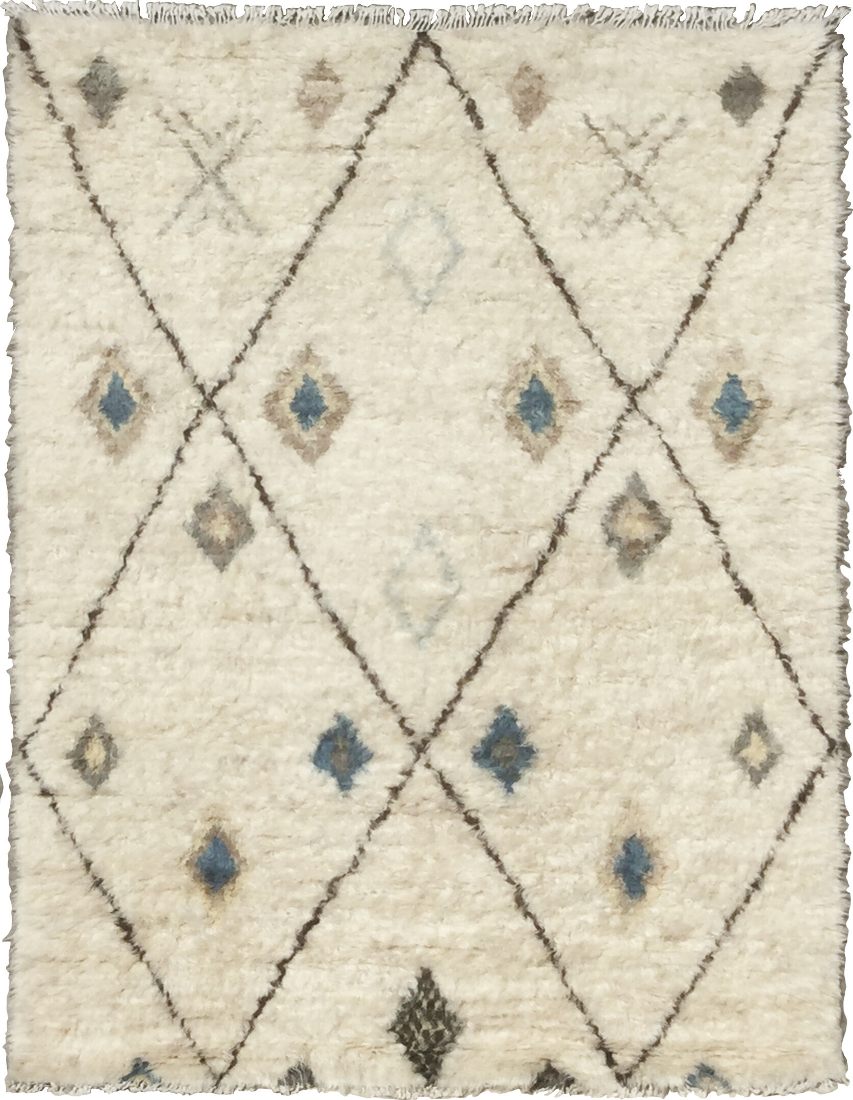 Pasargad Moroccan Geometric Hand Knotted Wool Beige Gray Area Rug Wayfair