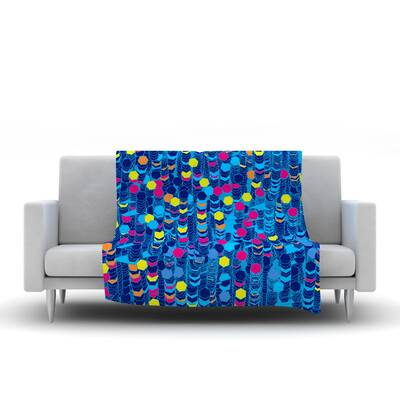 80 x 60 Fleece Blanket Kess InHouse Frederic Levy-Hadida Mosaic in Cyan Throw