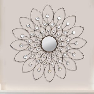 Bruckdale Decorative Flower Wall Mirror