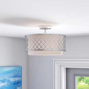 Beachcrest Home Tymvou Semi Flush Mount