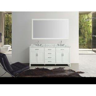 Weatherford 73 Double Bathroom Vanity Set with Mirror by Orren Ellis