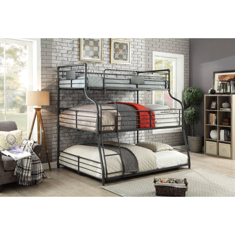 Harriet Bee Prather Twin Over Full Over Queen Bunk Bed & Reviews