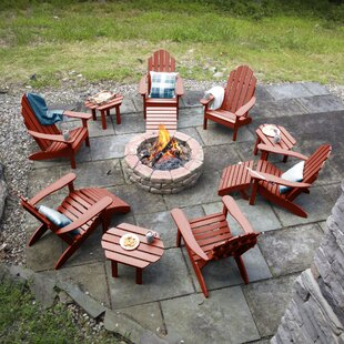 Highpoint Classic Plastic Adirondack Chair with Table