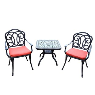 Oakland Living Berkley 3 Piece Dining Set with Cushions