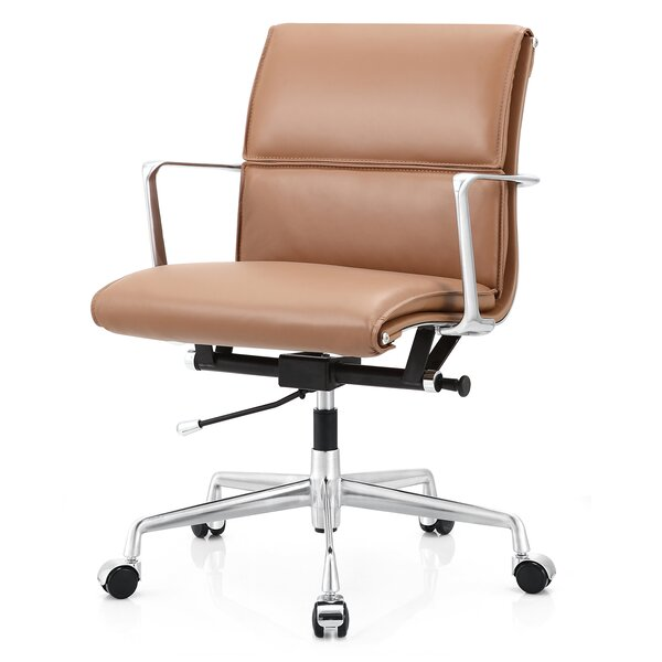 Gentil Meelano Italian Leather Office Chair U0026 Reviews | Wayfair