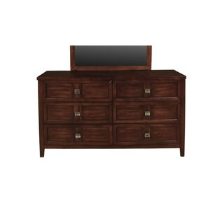 Dunkin 6 Drawers Double Dresser by Winston Porter