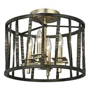 Troy Lighting Bastille 4-Light Semi Flush Mount