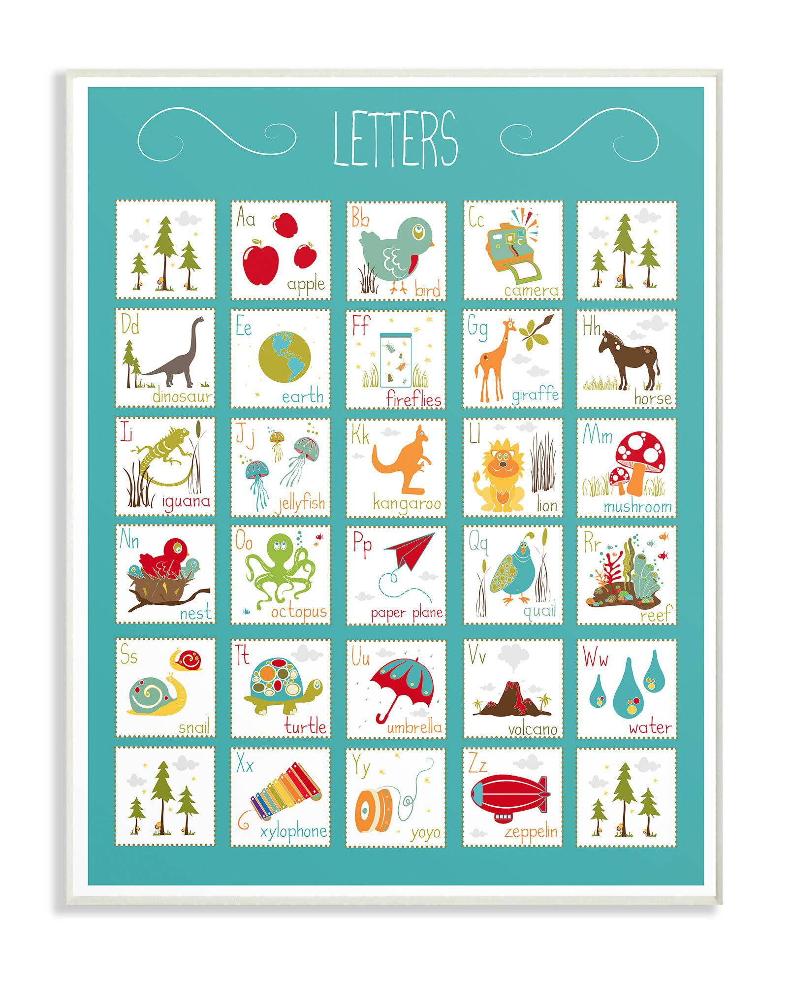 Letter Art Print.Alphabet Letter Chart Graphic Art Print
