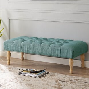 Huang Upholstered Bench by Bungalow Rose