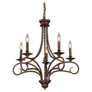 Fleur De Lis Living Dubuque 5- Light Candle Style Chandelier