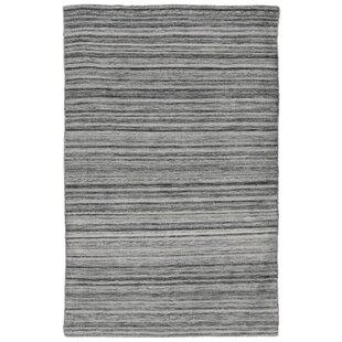 Boerner Ombre Hand-Woven Gray Indoor/Outdoor Area Rug byHighland Dunes