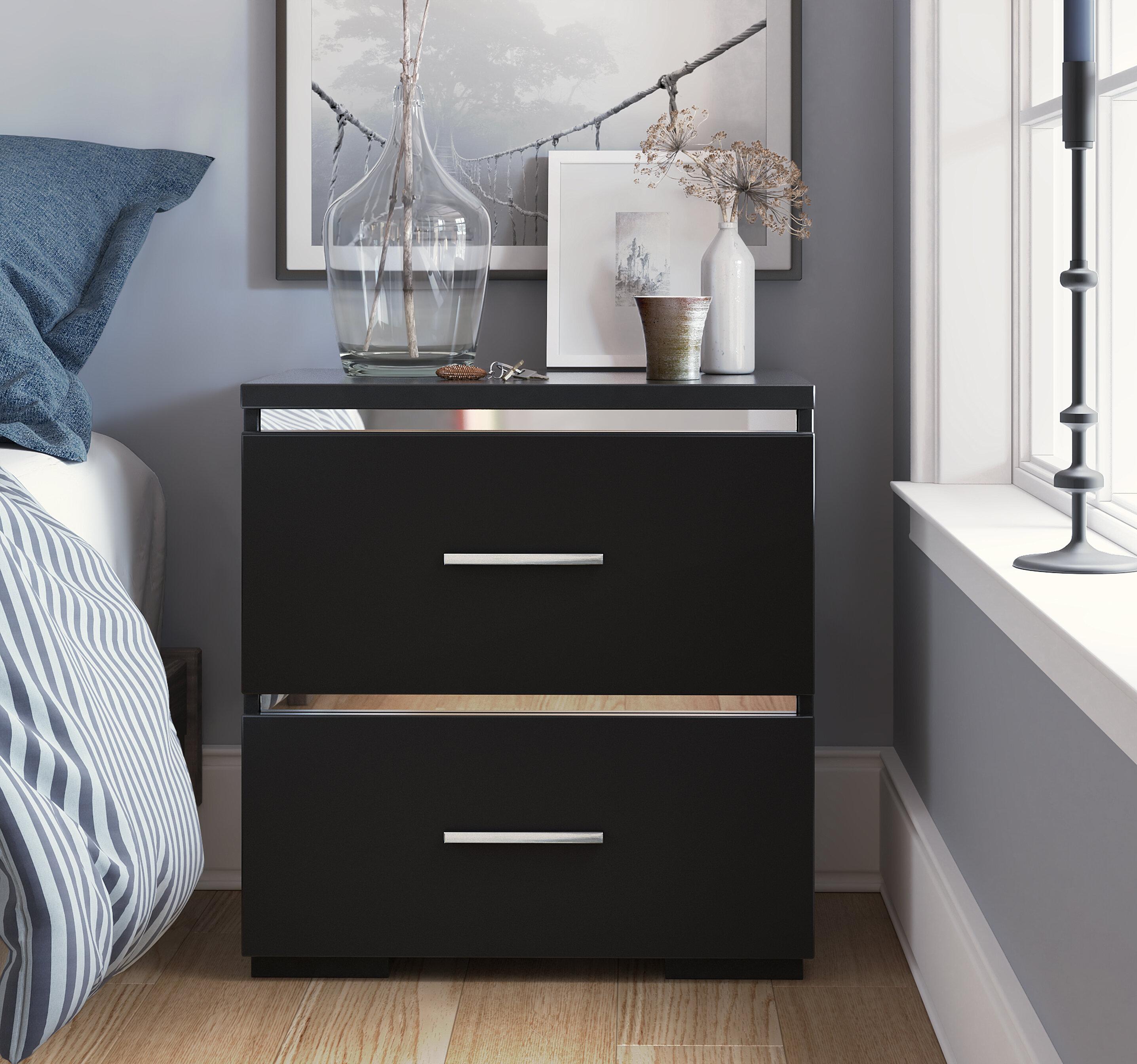 Bedside Tables Cabinets Bedroom Uv Matt High Gloss Bedside Drawer Cabinet Table 4 Handles Wood Furniture Home Furniture Diy Cruzeirista Com Br