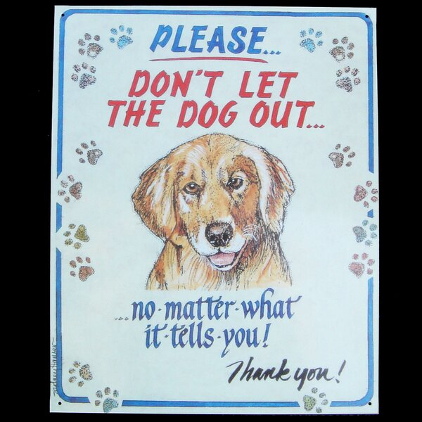 VINTAGE RETRO HANGING METAL PLAQUE SIGN /'CRAZY DOG FAMILY/' GIFT FOR DOG OWNERS