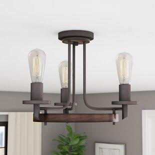 Redvale 3-Light Semi Flush Mount by Trent Austin Design