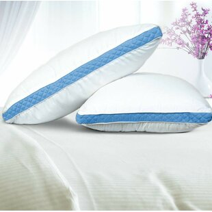 Isadora Premium Quality Gusseted Quilted Fiber Pillow (Set of 2)