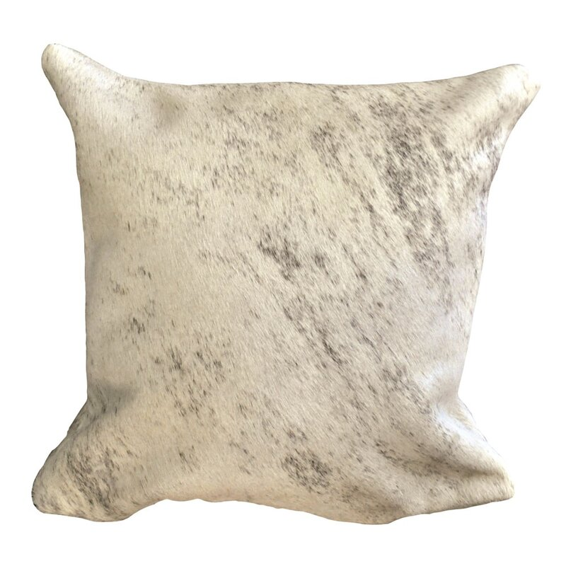 Foundry Select Aguiar Decorative Cowhide Couch 16 Throw Pillow Cover Wayfair
