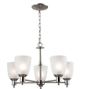 Berndt 5-Light Shaded Chandelier by Winston Porter
