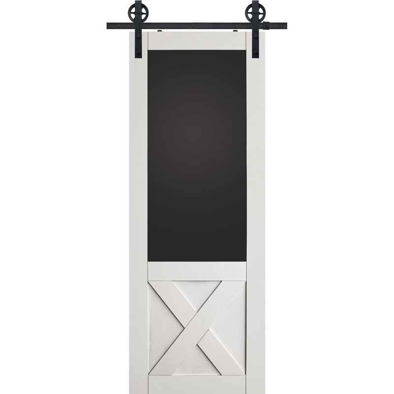 X Blackboard MDF Panel Interior Barn Door