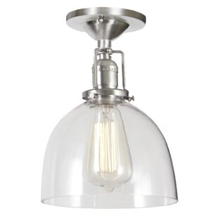 Shumway Modern 1-Light Semi Flush Mount by Breakwater Bay