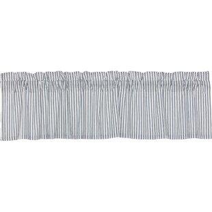 Surikova Ticking Stripe Window Valance by August Grove