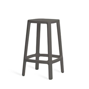 Versailles Barchair - Plastic Barstool - Medium 65 Cm - Black By 17 Stories