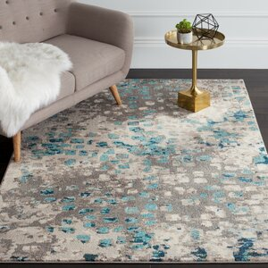 Crosier Grey & Light Blue Area Rug