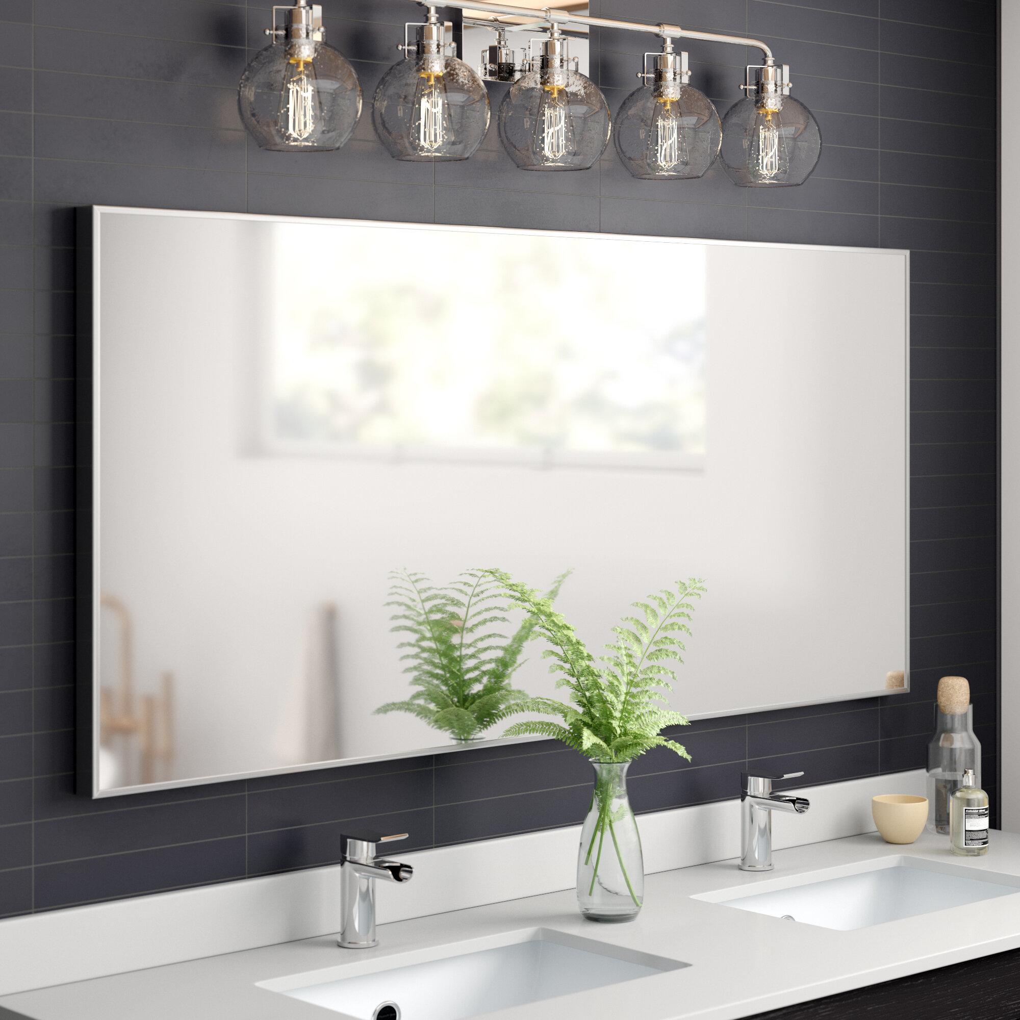Karson Matte Aluminium Wall Mirror Reviews Allmodern