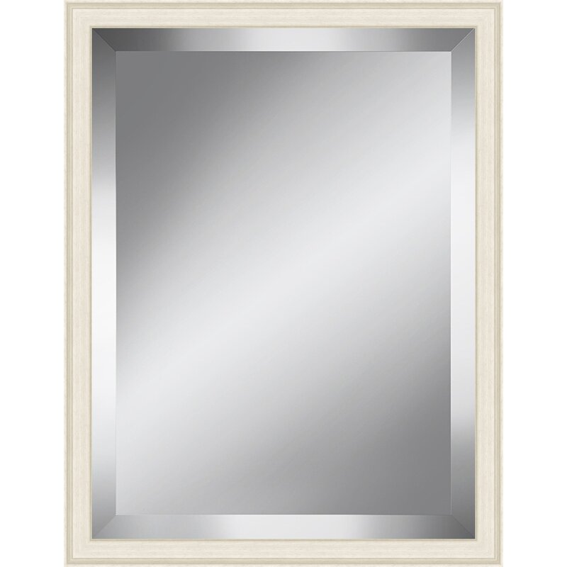 Red Barrel Studio Off White Effect Beveled Plate Accent Mirror Wayfair