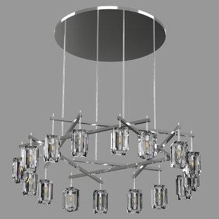 Fine Art Lamps Monceau Sculptural Block 16-Light Wagon Wheel Chandelier