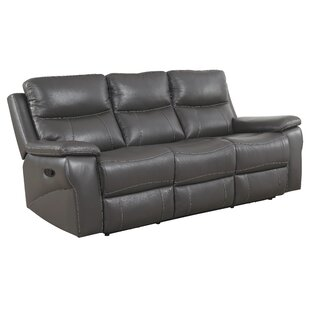Shop for Faulks Leather Reclining Sofa by Red Barrel Studio Reviews (2019) & Buyer's Guide