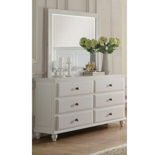 Darby Home Co Ensley 6 Drawer Double Dresser with Mirror Image