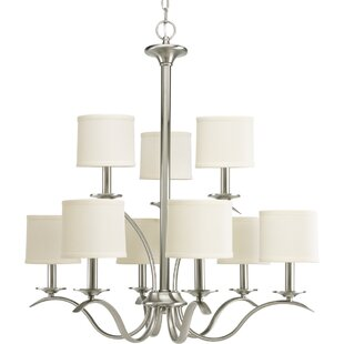 Three Posts Greenwell 9-Light Shaded Chandelier