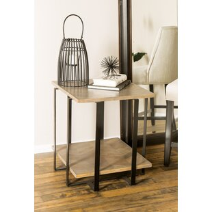 Ladner Modern Square End Table by Williston Forge